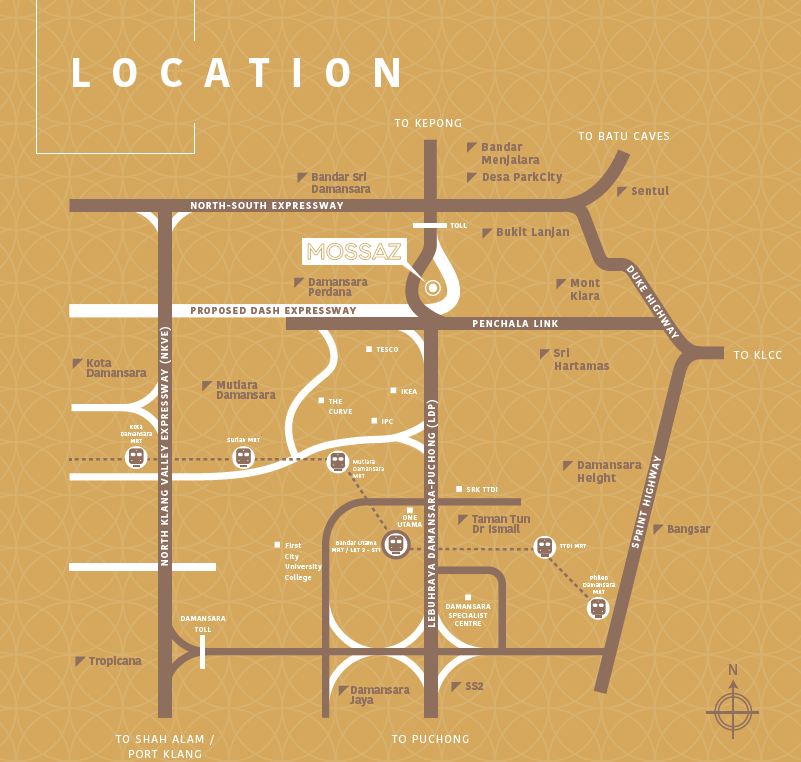 Mossaz-suites-empire-city-damansara-location-map
